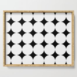 Black stars and white circles Serving Tray