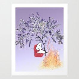 Ghostie's Retirement Art Print