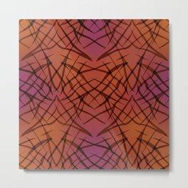 Brown red pattern . Metal Print