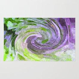 Abstract Waves watercolor abstract Rug
