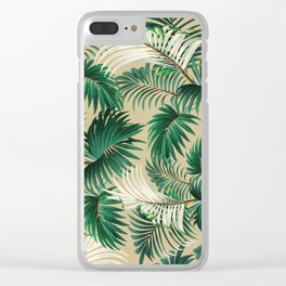 Tropical Jungle Clear iPhone Case