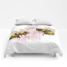 Watercolour Bees Cute Nursery Wall Art Print Illustration Comforters