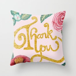 Camellia Thank you card Throw Pillow