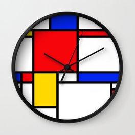 Piet Pattern Wall Clock