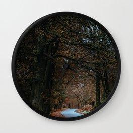 Eerie Autumn Path (Color) Wall Clock