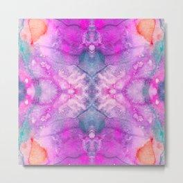 Hot Pink Watercolor Metal Print