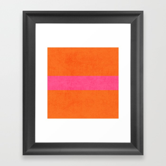 orange and hot pink classic Gerahmter Kunstdruck
