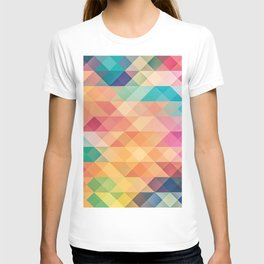 Colorful polygons T-shirt