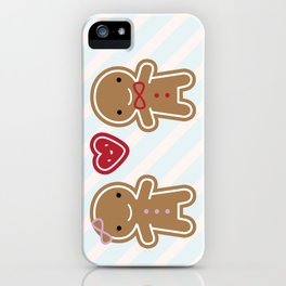 Cookie Cute Gingerbread Couple iPhone Case