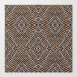 Striped Triangles Canvas Print