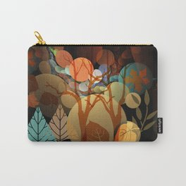 Trees and leaves in sun spots Carry-All Pouch