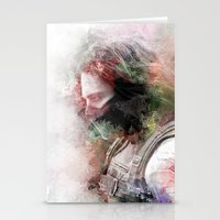 winter soldier Stationery Cards featuring Winter Soldier by NKlein Design