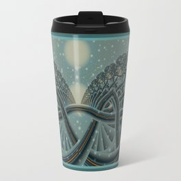Celtic Winter Forest Travel Mug