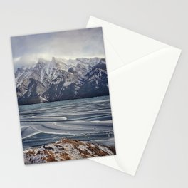 Frozen Lake Minnewanka Stationery Cards