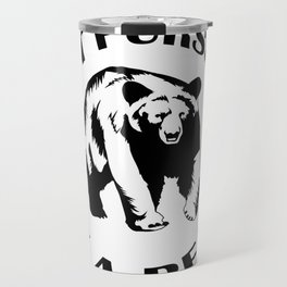 Exit Pursued by a Bear Travel Mug