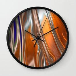Monochrom Golden Age Splash Abstract Wall Clock
