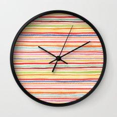 Robayre Watercolor Lines Wall Clock