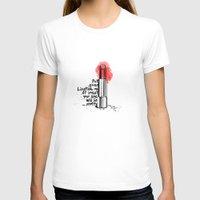 lipstick T-shirts featuring Lipstick by Studio Caravan