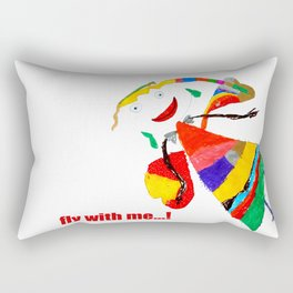 fly with me... Rectangular Pillow