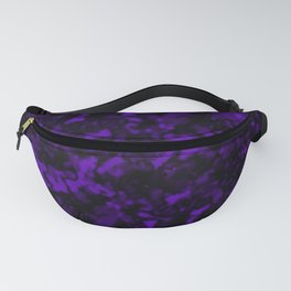 A gloomy cluster of violet bodies on a dark background. Fanny Pack