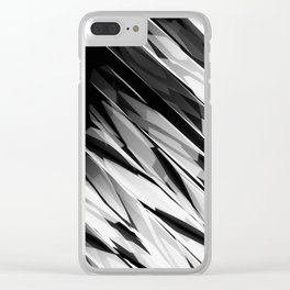 Abstract Pattern B&W1 Clear iPhone Case