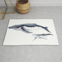Humpback whale with calf Rug