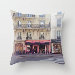 Boulangerie at 6 Arrondissement, Paris Throw Pillow