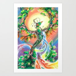 Wooden Bird of Paradise  Art Print