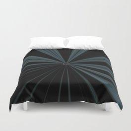 Black Velvet Silver Flower Button Design Duvet Cover