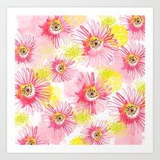 Floating Florals Art Print