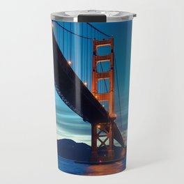 Amazing Golden Gate Bridge San Francisco Bay California At Lovely Sunset Ultra High Resolution Travel Mug