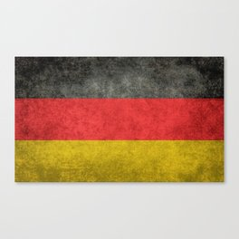 German National flag, Vintage retro patina Canvas Print