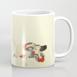 Samurai Farting On A Cat - Funny - Japanese - Samurai Coffee Mug