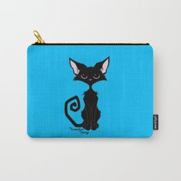 Black Cat - Cool Blue Carry-All Pouch