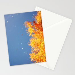 Autumn leaves in the wind Stationery Cards
