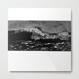 Black Ocean Waves Metal Print