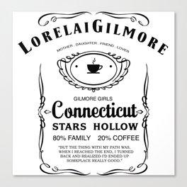 Lorelai Gilmore whiskey Canvas Print