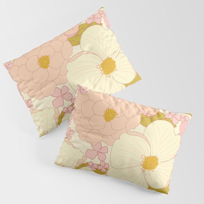 Pink Pastel Vintage Floral Pattern Kissenbezug