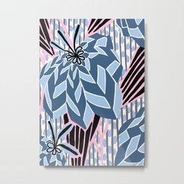BAYAMO: BOLERO BLUES, Art Deco Tropical Metal Print