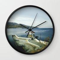 greek Wall Clocks featuring Greek landscape by MarioGuti