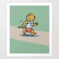 Running Cat Art Print