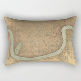 Vintage Map of New Orleans (1919) Rectangular Pillow