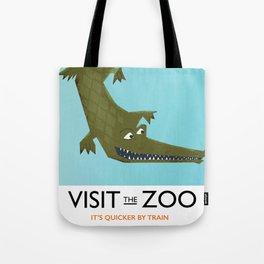 Visit the zoo Alligator Tote Bag