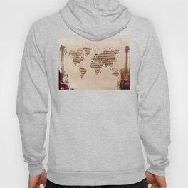 music world map Hoody