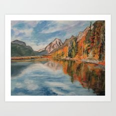 #4-Montana Lake, Near Glacier Art Print