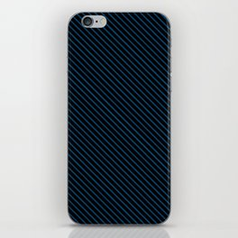 Snorkel Blue and Black Stripe iPhone Skin