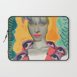 Surrealist Mystic Collage Vector Art Dora Maar Laptop Sleeve