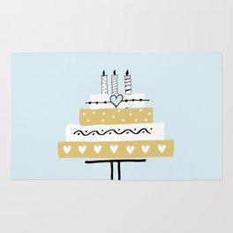 Happy birthday cake Rug