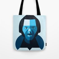 chuck Tote Bags featuring Chuck Berry by rubenmontero