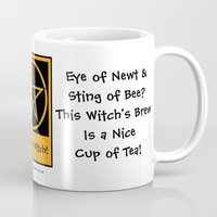 pagan Mugs featuring Witch's Brew is a Cup of Tea! Pagan Wiccan Cup Mug by Cheeky Witch